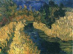 """""""der kleine strom"""", öl auf leinwand von Vincent Van Gogh (1853-1890, Netherlands)"""