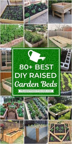 Choose from more than 80 of these DIY Raised Garden Beds. There are garden ideas for every budget, skill level and time frame. From cheap and easy to more complex and time consuming raised garden projects 80 Best DIY Raised Garden Beds Raised Vegetable Gardens, Home Vegetable Garden, Raised Gardens, Small Gardens, Home And Garden, Gardening For Beginners, Gardening Tips, Pallet Gardening, Gardening Courses