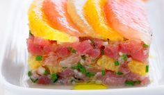 The citrusy tuna tartareis a very simple recipe, but success requires using the freshest Mediterranean tuna and the most fragrant Sicilian citrus.