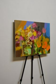 Contemporary art painting flowers still life painting by Pysar