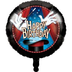 Check out the deal on Magic Party Happy Birthday Foil Balloon at Party at Lewis Elegant Party Supplies, Plastic Dinnerware, Paper Plates and Napkins Metallic Balloons, Mylar Balloons, Latex Balloons, Happy Birthday 18th, Happy Birthday Messages, Boy Birthday, Birthday Party Celebration, Birthday Party Themes, Happy Birthday Foil Balloons