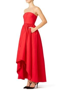 Marchesa%20Notte - Red%20Precision%20Gown