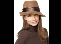 women's fashion hats | Brown felt womens fedora hat fashion trend