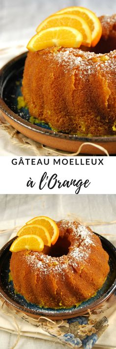gateau moelleux orange Apfelstrudel Recipe, Sandwiches, Fruit Tart, Breakfast Pizza, Baking Cupcakes, No Bake Cake, Bagel, Coco, Biscuits