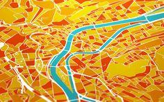 Carte de Liège #graphic #design #coric