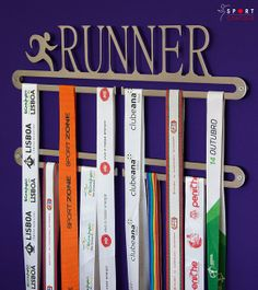 Hey, I found this really awesome Etsy listing at https://www.etsy.com/listing/183486882/running-medal-display-double-hanger