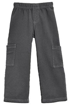 City Threads Baby Boys Fleece Cargo Pocket Pants Charcoal 1218m *** Click image to review more details.
