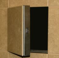 Nystrom RU Series Tile Ready Access Door is fire-rated, uninsulated and provides access through openings in walls for ceramic tile applications. Panel Doors, Windows And Doors, Data Center Design, Hide Money, Secret Hiding Places, Wall Panel Design, Door Window Treatments, Hidden Spaces, Access Panel