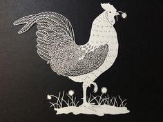 Maude White handcut paper art bravebirdpaperart.com