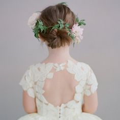 Designer Courtney Price's collection of couture flower girl dresses is beyond charming! Photos by Elizabeth Messina.