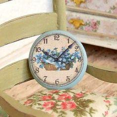Dollhouse Miniature Blue Flower Basket by sarahslilessentials, £5.00