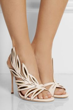 dd74f35bca65 Sergio Rossi - Flora suede-paneled leather sandals