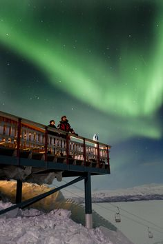 Aurora Sky Station in Abisko, Sweden (open November 30 through March 30), is located 900 meters above sea level and experiences little light or noise pollution—optimal conditions for viewing the northern lights.