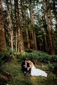 Ecola State Park Post Wedding Adventure – wedding photography bride and groom Wedding Poses, Wedding Photoshoot, Wedding Shoot, Wedding Tips, Wedding Dresses, Wedding Details, Wedding Bouquets, Forest Wedding, Woodland Wedding