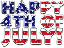 Happy 4th of july glitter