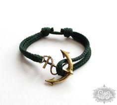 'cute & twisted - NEPTUN forest green' Armband von cute as a button auf DaWanda.com