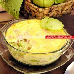 Receita de Chuchu gratinado Creative Food, Finger Foods, Vegan Vegetarian, Salsa, Vegan Recipes, Recipies, Food And Drink, Low Carb, Pudding