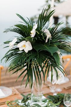 orchid wedding centerpieces wedding flowers - Page 26 of 101 - Wedding Flowers & Bouquet Ideas Tropical Centerpieces, Orchid Centerpieces, Wedding Table Centerpieces, Tropical Floral Arrangements, Wedding Arrangements, Centerpiece Ideas, Tropical Wedding Decor, Floral Wedding, Wedding Flowers
