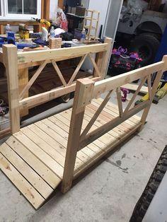 DIY Wood Garden Bridge