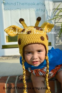 Crochet+Giraffe+Hat+Giraffe+Hat+baby+giraffe+by+FilipinoSilkWorm,+$25.00