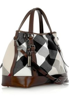 Burberry ~ 'Haymarket' Check Canvas Shoulder Bag 2015