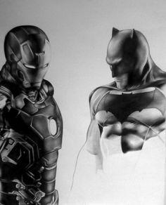 Batman & Ironman /A2 ceruza rajz /üdv Ben a 6 rajzolója