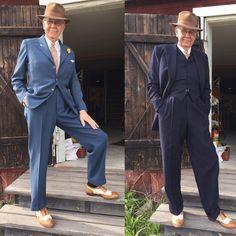 Light blue or dark blue? #menwithstyle #welldressedmen #welldressed #vintagemannen #vintage #latapigan #vintagefashion #borsalino #vintageborsalino #spectators #1950s #50sfashion #40sfashion #dandy #dapper #menswear