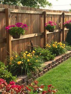 24 Backyard Garden Fence Decoration Makeover DIY Ideas – Your Backyard – Diy Backyard Privacy Fence Landscaping, Small Front Yard Landscaping, Small Backyard Gardens, Small Backyard Design, Landscaping Ideas, Corner Landscaping, Backyard Privacy, Outdoor Landscaping, Privacy Fence Decorations