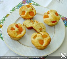Zitronen - Muffins  mit Aprikosen