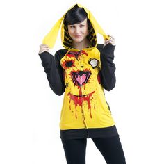 OMG *_____* Acabo de morir de amor ♥  Chu Chu - Chaqueta con capucha Mujer por Cupcake Cult - Número Artículo: 278641 - desde 49,99 € - EMP tienda online de Camisetas, Merchandis...