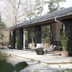 Future House, My House, Unique Garden, Casa Loft, Scandi Home, Weekend House, Wooden House, Black House, Exterior Design