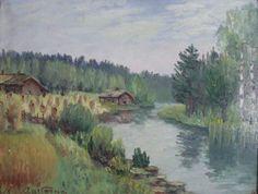 Kalle Aaltonen: Maisema joen rannasta, öljymaalaus Painting, Artists, Painting Art, Paintings, Painted Canvas, Drawings, Artist