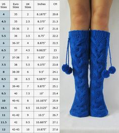 Wool socks Hand made socks Knee high Socks knit socks Hand