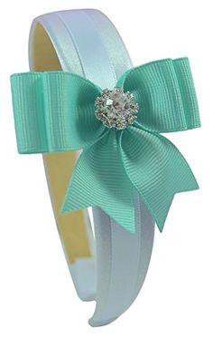 Girls Elegant Rhinestone Bow Satin Headband Funny Girl Designs (Light Aqua) Funny Girl Designs http://www.amazon.com/dp/B00U1SKAQU/ref=cm_sw_r_pi_dp_HaK8ub031XR8S