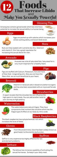 12 Foods That Improve Male Libido #Libido #Infographic