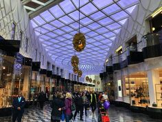 This morning in #Leeds #VictoriaGate #shopping #mall opened. I went down to observe and record the occasion. Here is a glimpse inside the shopping mall with its #lattice #roof and #purple lighting. I'll put some more #photos up tomorrow. #Yorkshire #news #IgersLeeds #Leeds2023 #LeedsBid #people #shop #retail #culture #travel #tourism #tourist #attraction #leisure #life #audience