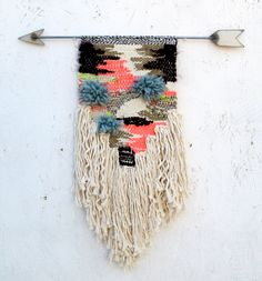 Camo Weaving by All Roads.   wall hanging / wall art / fibre art / weaving