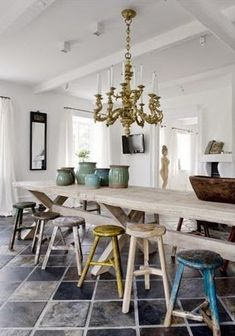 love the mixture of chairs