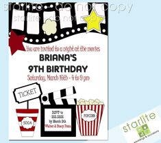 20 Best Movie Party Invitations Images In 2019