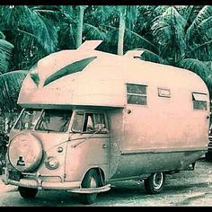 A VW camper, hope it's got a bigger engine than usual.
