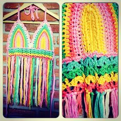 Top Rainbow - crochet @bohocarrot  Moda Uruguay
