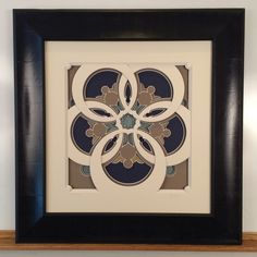 Matboard artwork based on Romanesque architecture by Brian Wolf, cut with a CMC.