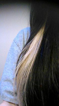 White streak in black hair