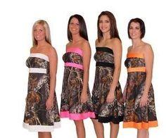 Camo Wedding Bridesmaid Dresses | Camo Strapless Formal Dress Mossy Oak Break Up Prom Bridesmaid Wedding ...
