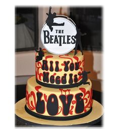 The Beatles All You Need is Love Cake