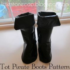 In the Little Stone Cape: Child's Pirate Boots Pattern