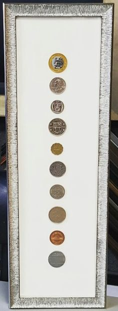 Show off your collection of vintage coins with custom framing! #customframing