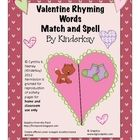 Students match the rhyming pictures on the heart halves.Students use letter tiles to spell the 3 and 4 letter words.  Level 1 : Students fill i...