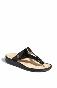Not the cutest, yet most comfortable sandals I've ever owned.  Finn Comfort 'Alexandria' Thong Sandal available at #Nordstrom