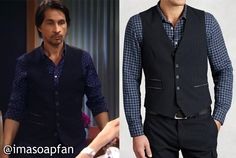 Hamilton Finn's Midnight Blue Zip Pocket Vest - General Hospital, Season 54, Episode 04/05/16 - I'm a Soap Fan, Michael Easton, #GH Fashion, Clothing worn on #GeneralHospital